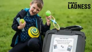 Boy, Six, Comes Up With Genius Dog Toyboxes For Walkers In Parks