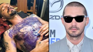 Shia LaBeouf's Tattoo Artist Shares Full Extend Of Actor's Chest Ink For Role In Tax Collector