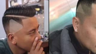 Barber Shaves 'Play' Icon Into Man's Hair After Being Shown Paused Video
