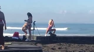 Influencer Slammed For Performing Squats Next To Religious Ceremony In Bali