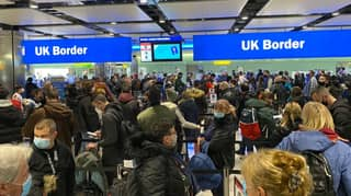 Crowds At Heathrow Airport Spark Social Distancing Concerns