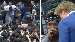 KSI And Logan Paul Clash During Feisty Press Conference