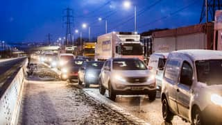 Britain Calls The Army In To Rescue Drivers During Winter Weather