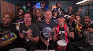 Metallica Play 'Enter Sandman' With Jimmy Fallon On Kids' Toy Instruments