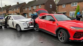 Rolls-Royce Driver Smashes Into Lamborghini Before Fleeing The Scene