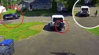 Dad Shares Video Showing Young Son Hiding From Passing Police Car As He Plays