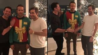 Hugh Jackman And Jake Gyllenhaal Play Hilarious Prank On Ryan Reynolds