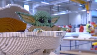 Lego Builds Life-Size Baby Yoda Model