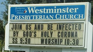 Florida Church Tells Parishioners 'Join Us And Be Infected By God's Holy Corona'