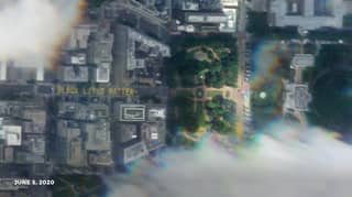 Washington DC Black Lives Matter Mural Visible From Space
