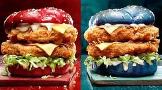 KFC Australia Has Released Red And Blue Buns For The State Of Origin