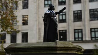Darth Vader Statue Appears On Edward Colston Plinth In Tribute To David Prowse