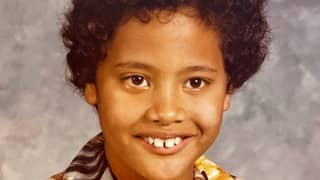 Dwayne Johnson Shares Incredible Throwback Snap From When He Was Seven