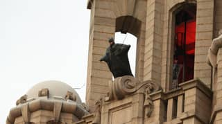 ​Batman Spotted On Top Of Liver Building In Liverpool As Filming Continues