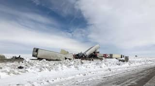 At Least Three People Have Died In An 100-Vehicle Pile-Up In Wyoming
