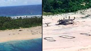 Missing Men Rescued From Desert Island After Writing SOS In Sand