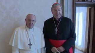 Cardinal George Pell Meets With Pope Francis At The Vatican For Private Meeting
