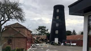 Historic Windmill Battered By Storm Ciara In 90mph Wind