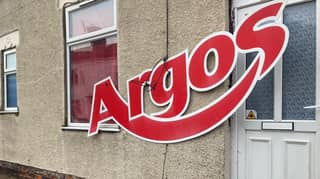 Man Shocked After Finding Huge Argos Sign Outside His House