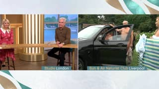 Nudist Nearly Accidentally Flashes Genitals On This Morning