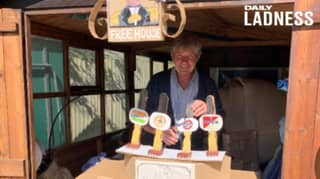 Woman Builds Pop-Up Pub In Garden So Dad Can Celebrate His Birthday During Lockdown