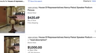 People Are Claiming To Sell Podium From The House Of Representatives Online