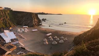 A Cornish Beach Has Been Transformed Into A Camp Site