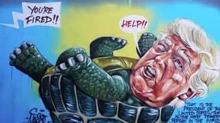 Aussie Artist Unveils Savage Donald Trump Graffiti In Sydney