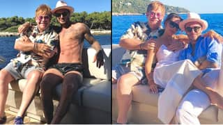 ​Elton John Is 'Winding Down Summer' With David Beckham And Victoria Beckham