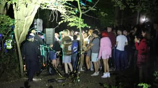 Police Shut Down Illegal Rave After 500 People Pile Into Forest