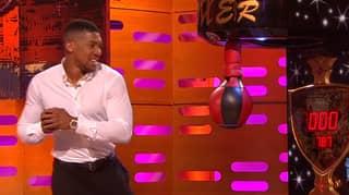 Anthony Joshua Demonstrates His Punching Power On The Graham Norton Show