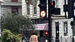 Man Spotted On A Naked Lockdown Walk Through London