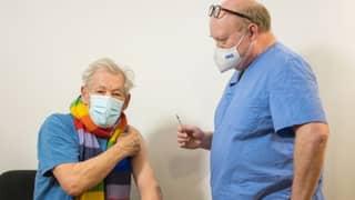 Sir Ian McKellen Praises Healthcare Workers As He Gets The Covid-19 Vaccine