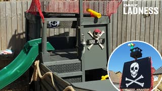 ​Parents Create Incredible Pirate Ship In Back Garden For Under £25