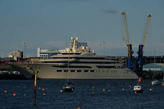 World's Biggest Superyacht Worth $650 Million Arrives In Southampton