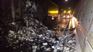 Truck Carrying Thousands Of Rolls Of Toilet Paper Bursts Into Flames In Brisbane