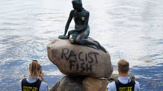 Little Mermaid Statue In Denmark Defaced With 'Racist Fish' Graffiti