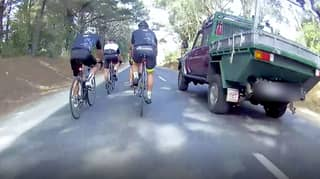 Cyclist Slams Ute Driver For Overtaking Then Braking Hard Causing Group To Fall Over