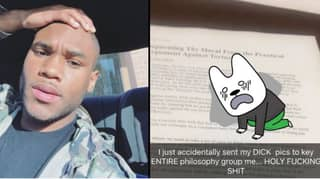 Student Accidentally Sends Two D*** Pics To His Class Group Chat