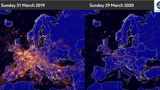 Video Shows The Difference In Air Traffic Between 2019 and 2020