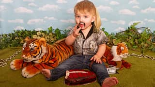 Mum Dresses Kids Up As Tiger King Stars Joe Exotic And Carole Baskin