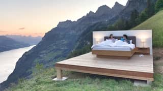 'Hotel Room' With No Walls Lets You Sleep In The Swiss Mountains