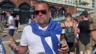 Man Drinking Beer On Seafront Complains About Social Distancing Not Being Strict Enough