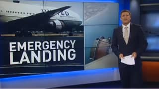 United Airlines Flight Forced To Make Emergency Landing After Engine Starts Disintegrating