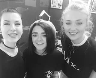 'GoT' Stars Sophie Turner And Maisie Williams Get Matching Mystery Tattoos