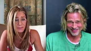 Brad Pitt Looks Awkward As He And Jennifer Aniston Recreate Risqué Scene During Table Read