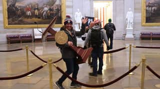 Man Pictured Carrying Nancy Pelosi's Lectern During Capitol Riot Has Been Arrested