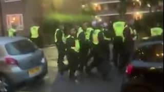 Police Hit With Bricks And Bottles As They Try To Break Up Illegal Rave