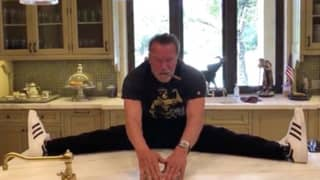Arnold Schwarzenegger Shares Funny Video Of Himself Looking Very Flexible