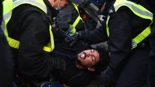 More Than 60 Arrested As Anti-Lockdown Protestors Clash With Police In London